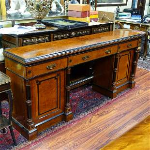 19th C. English Double Pedestal Sideboard