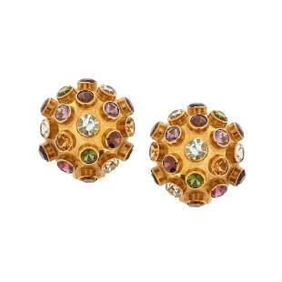 H. Stern Gemstone and 18K Earrings