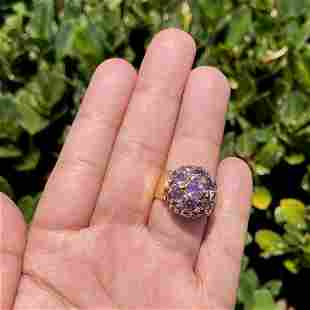 Amethyst and 18K Ring