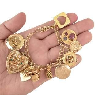 14K Charm Bracelet