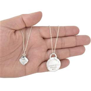 Tiffany & Co Sterling Pendant Necklaces