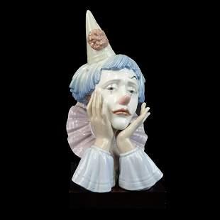 "Lladro ""Jester"" Porcelain Figurine"