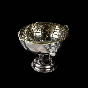 Japanese Silver Pedestal Vase
