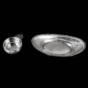 Sterling Bread Bowl and Porringer