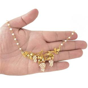 Pearl and 18K Necklace