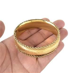 14K Cuff Bangle Bracelet