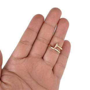 Diamond and 18K Nail Ring