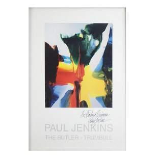 Autographed Paul Jenkins Poster