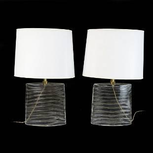 Pair of Donghia Lamps
