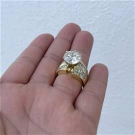 10.12ct Diamond and 18K Engagement Ring