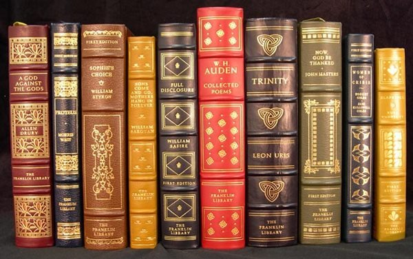 4: 10 Signed Franklin Library First Edition Books. Titl
