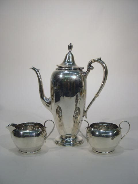 24: 3Pc Gorham Sterling Silver Coffee Service. Coffee P