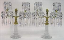 232: Very Fine Pair of 19th Century Baccarat Style Crys