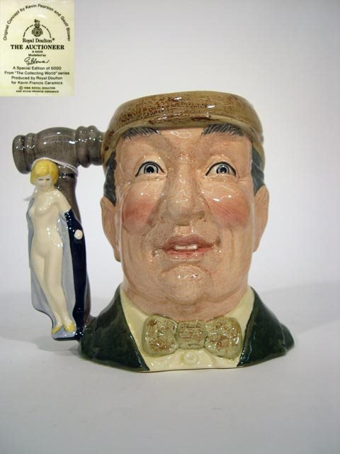 1001: Royal Doulton Toby Jug The Auctioneer D6838. The