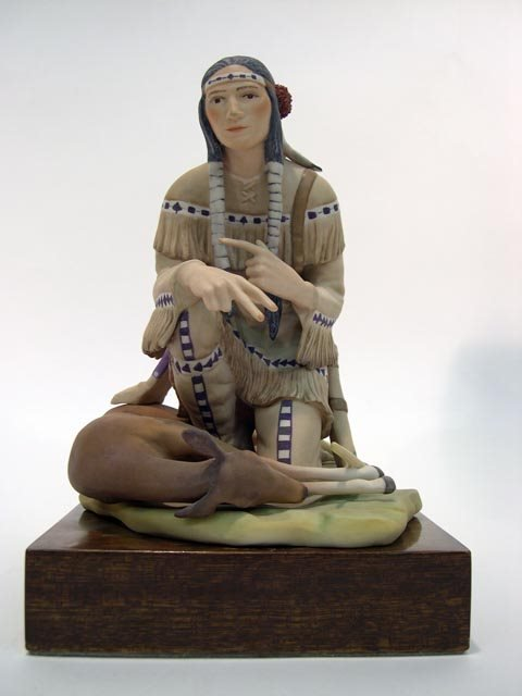 "1004: Cybis Limited Edition Porcelain Figure """"Hiawatha"