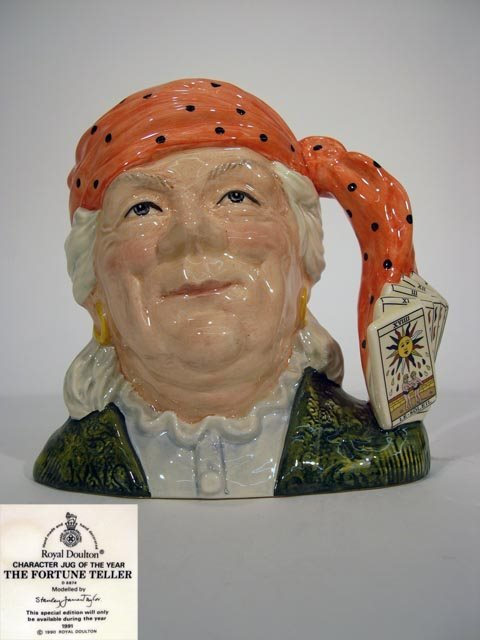 1019: Royal Doulton Toby Jug The Fortune Teller D6874