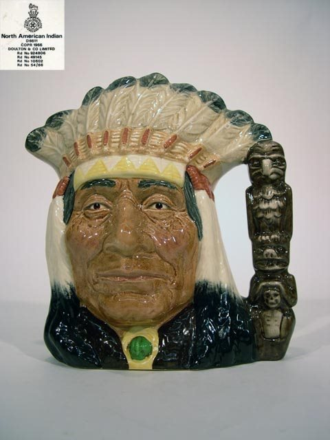 1020: Royal Doulton Toby Jug North American Indian D661