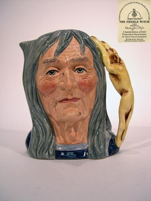 1147: Royal Doulton Toby Jug The Pendle Witch D6826. Th