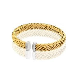 Roberto Coin Diamond and 18K Bracelet