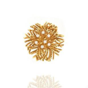 Tiffany & Co Diamond and 18K Brooch