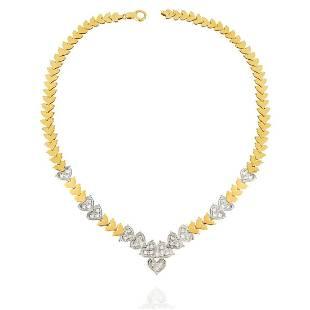 Diamond and 14K Necklace
