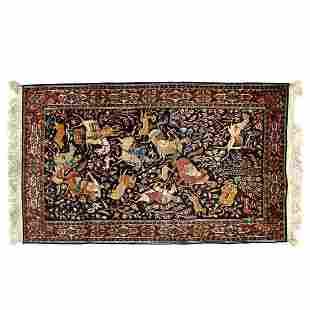 Kashmir Qum Silk Rug