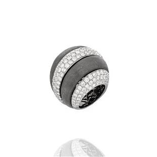 Diamond and 18K Cocktail Ring