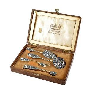 Nikolay Linden Enamel Silver Set