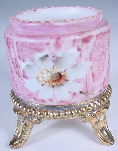 10: Decorated Kelva Style Toothpick Holder. Unsigned. D