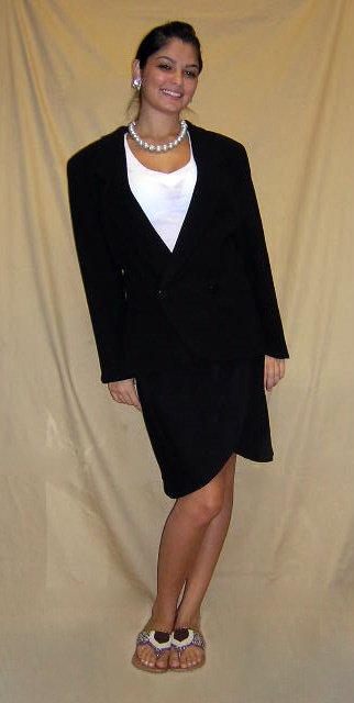 514: Giorgio Armani Ladies Two (2) Piece Black Skirt Su