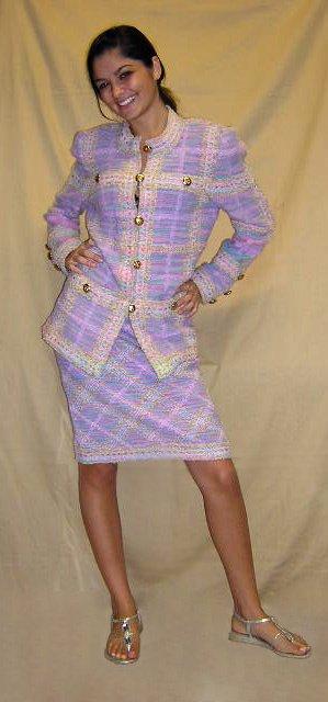 517: Adolpho Ladies Two (2) Piece Pastel Color Skirt Su