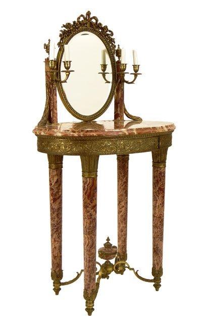 235: Antique French Louis XVI style Gilt Bronze Mounted