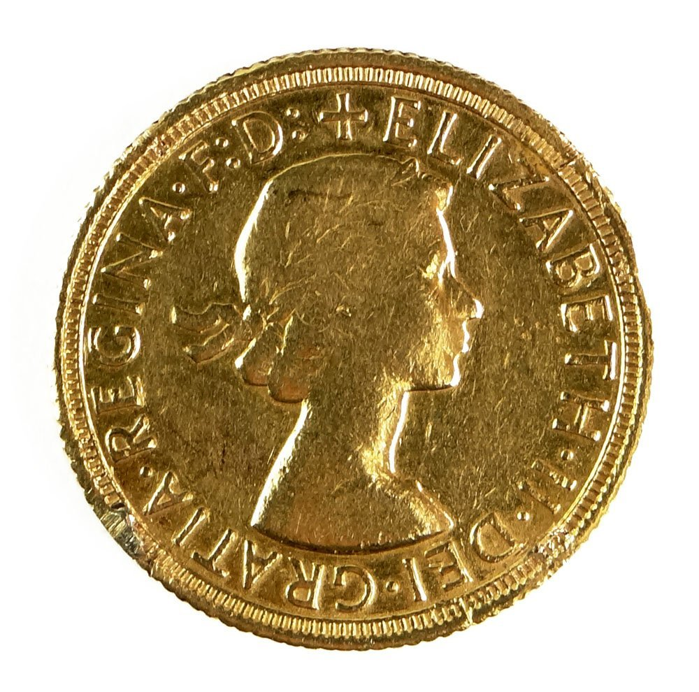 1958 British Full Gold Sovereign Queen Elizabeth II Gol