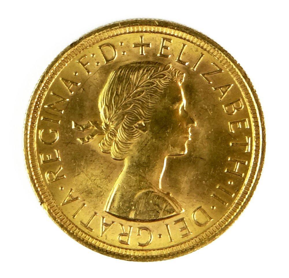 1957 British Full Gold Sovereign Queen Elizabeth II Gol