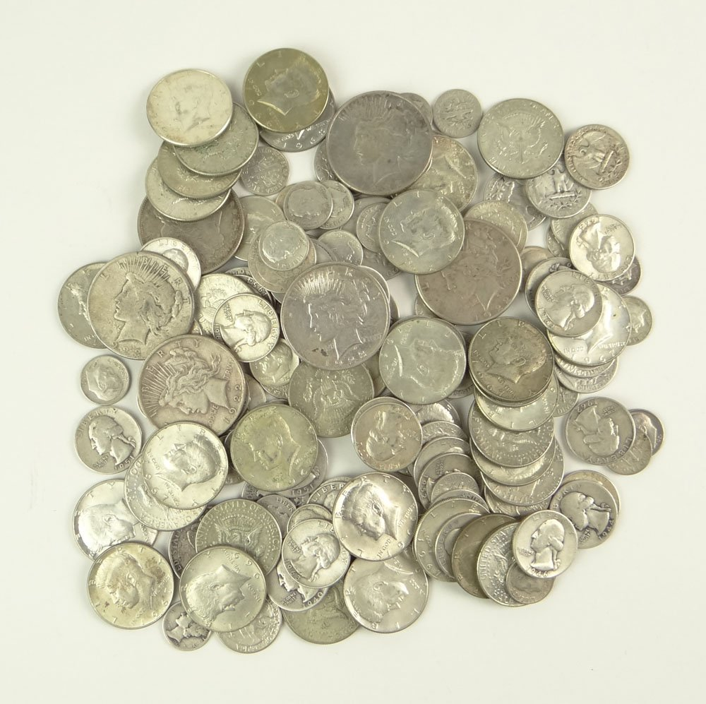 Collection of 146 Silver Coins. Collection Includes: Fo