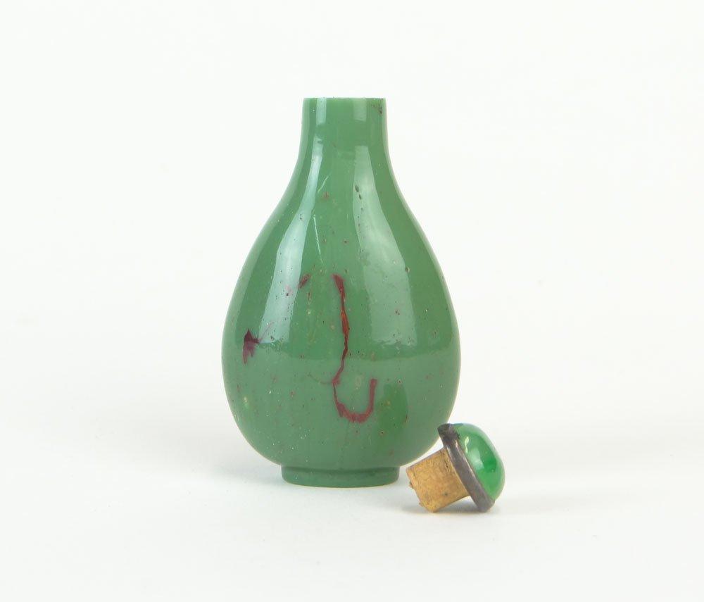18/19th Century Chinese Green Peking Glass Snuff Bottle