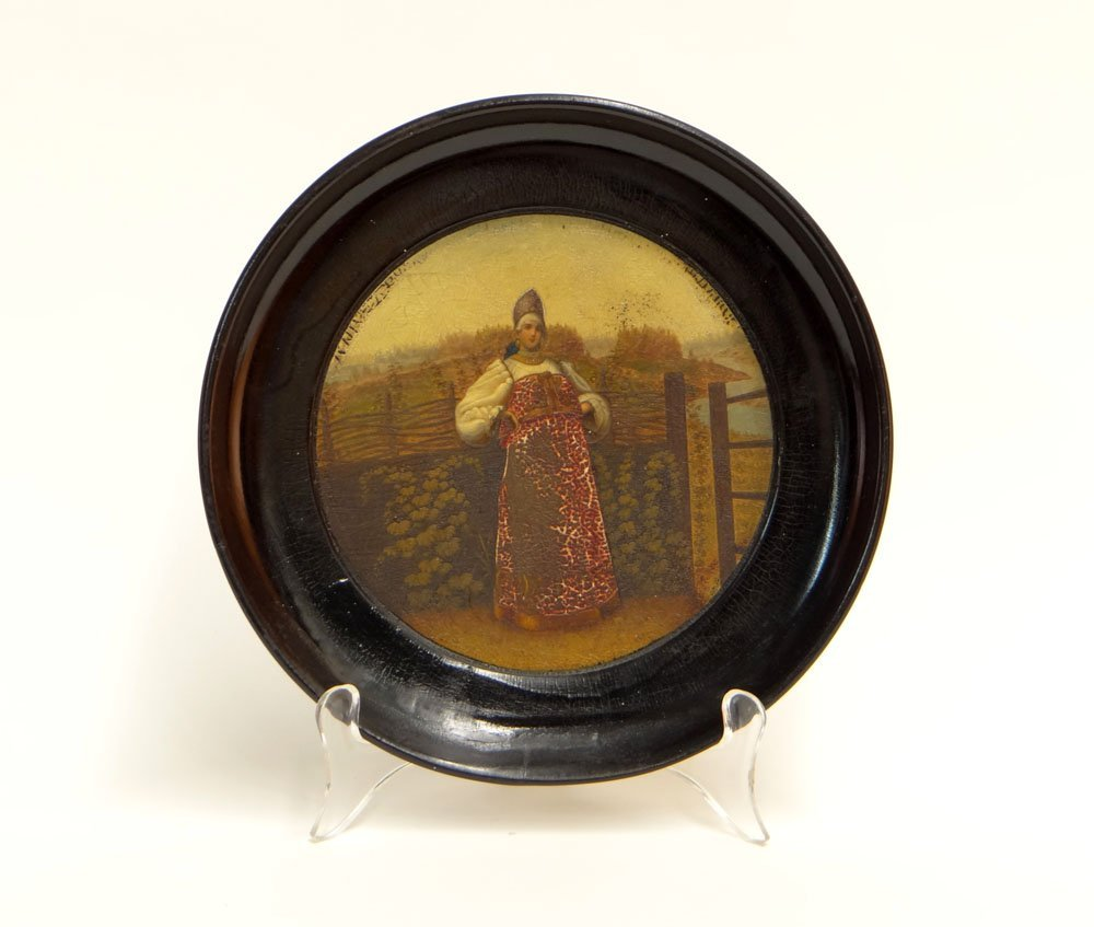19th Century Russian Lukutin Factory, Moscow, Lacquer P