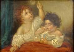 Late 19th Century British School Oil on Canvas Fat Bab