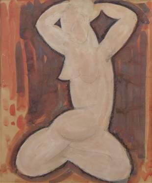 Amedeo Modigliani Italian (1884-1920) Watercolor, Penci