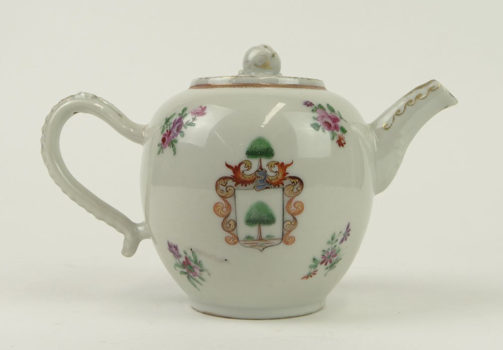 18th Century Chinese Export Porcelain Teapot with Coat