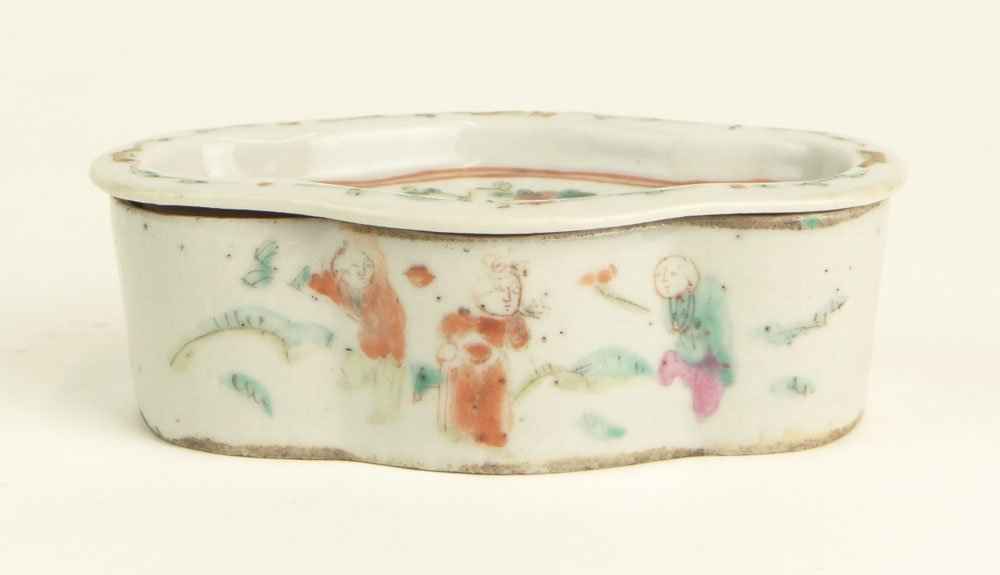 18th Century Chinese Export Porcelain Soap Dish. Unsign