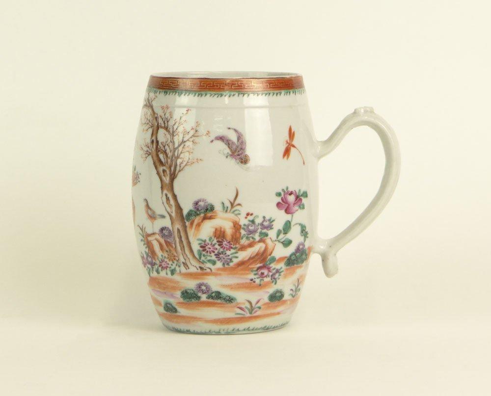 18th Century Chinese Lowestoft Porcelain Handled Mug wi