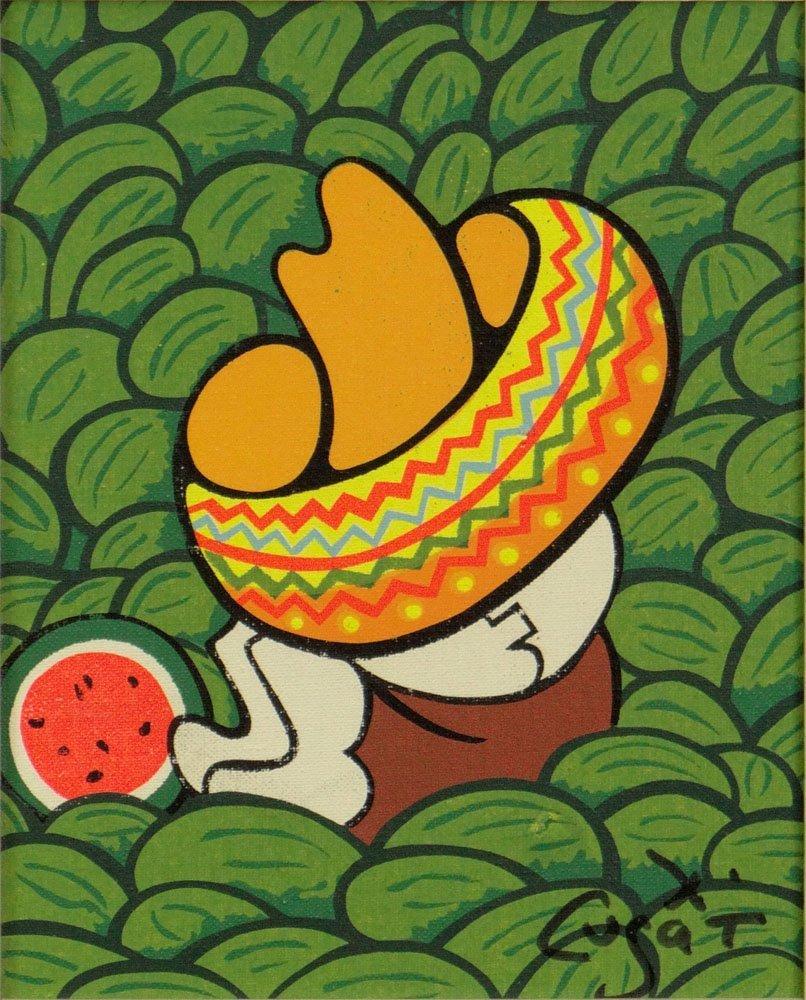 "Xavier Cugat, Spanish (1900-1990) Oil on Artist Board """