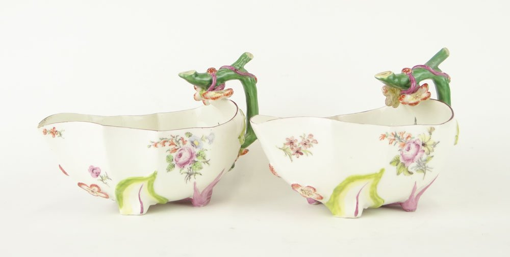 Pair of 18th Century Chelsea Porcelain Works, England,