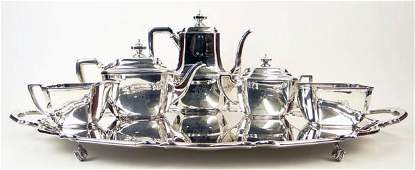 Vintage Tiffany  Co Five Piece Sterling Silver Coffee