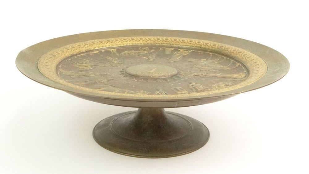 Ferdinand Levillain French (1837-1905) Bronze Tazza wit