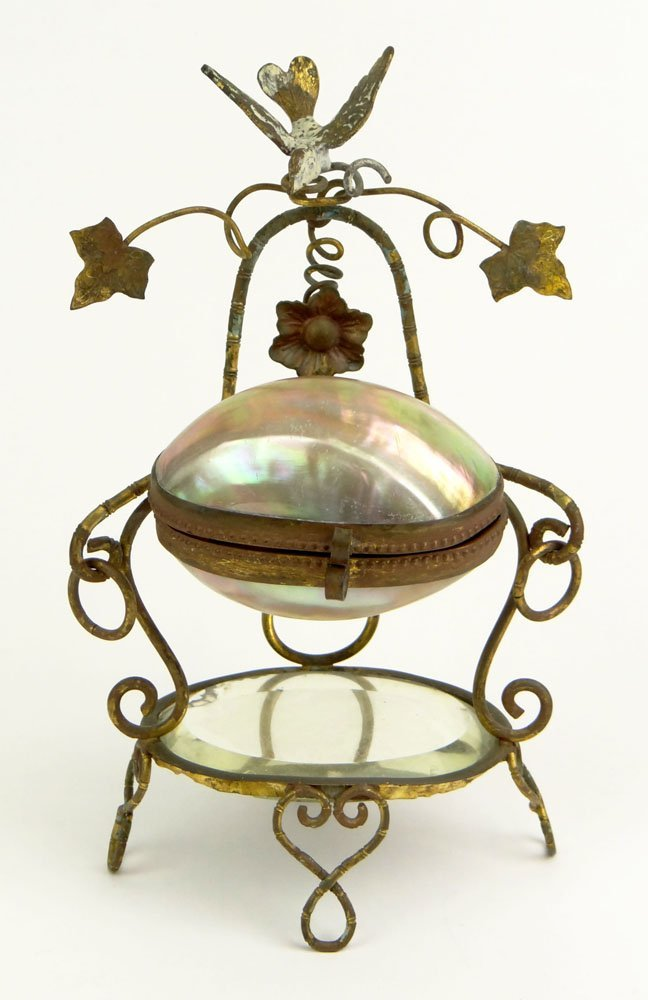 19th Century Mother of Pearl and Gilt Metal Palais with