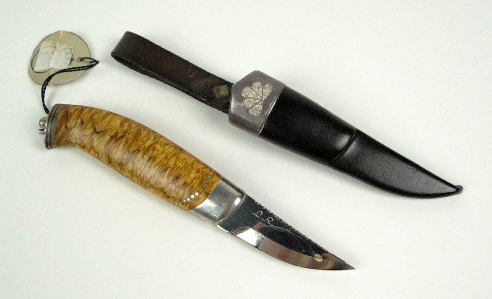 Leif Reiersen Tyristrand Norway Custom Made Burlwood Kn