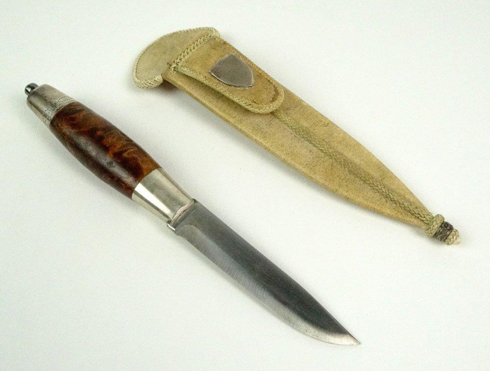 Vintage Tore Gimle Norway Custom Made Burlwood Knife an