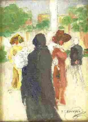 Rafael Barradas, Uruguayan (1890-1929) Oil on Canvas La